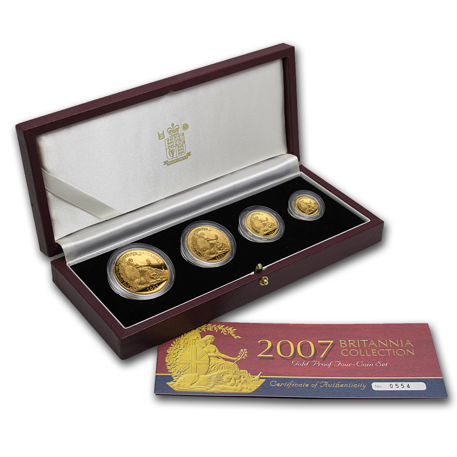 2007 4-Coin Gold Britannia Proof Set (w/Box & COA)